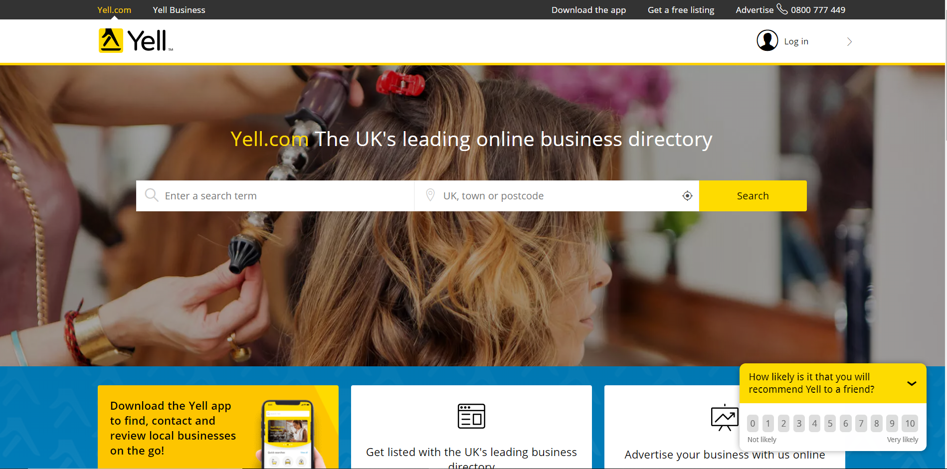 yell yellow pages review website for plumbing and heating company