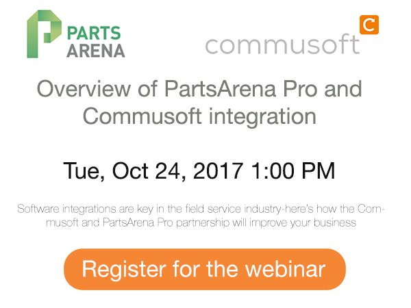 PartsArena Pro and Commusoft partnership