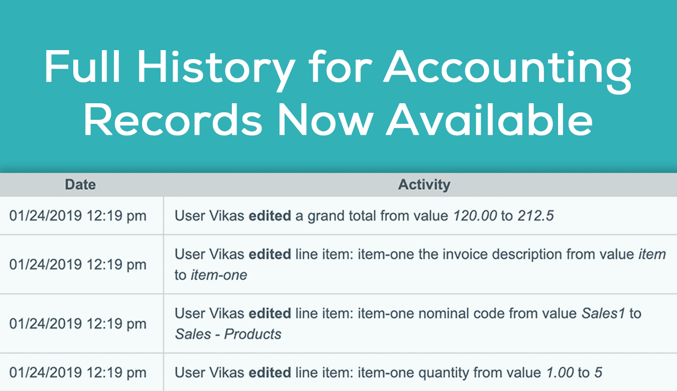 view accounting records