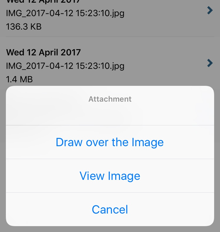 iOS release drawing over images