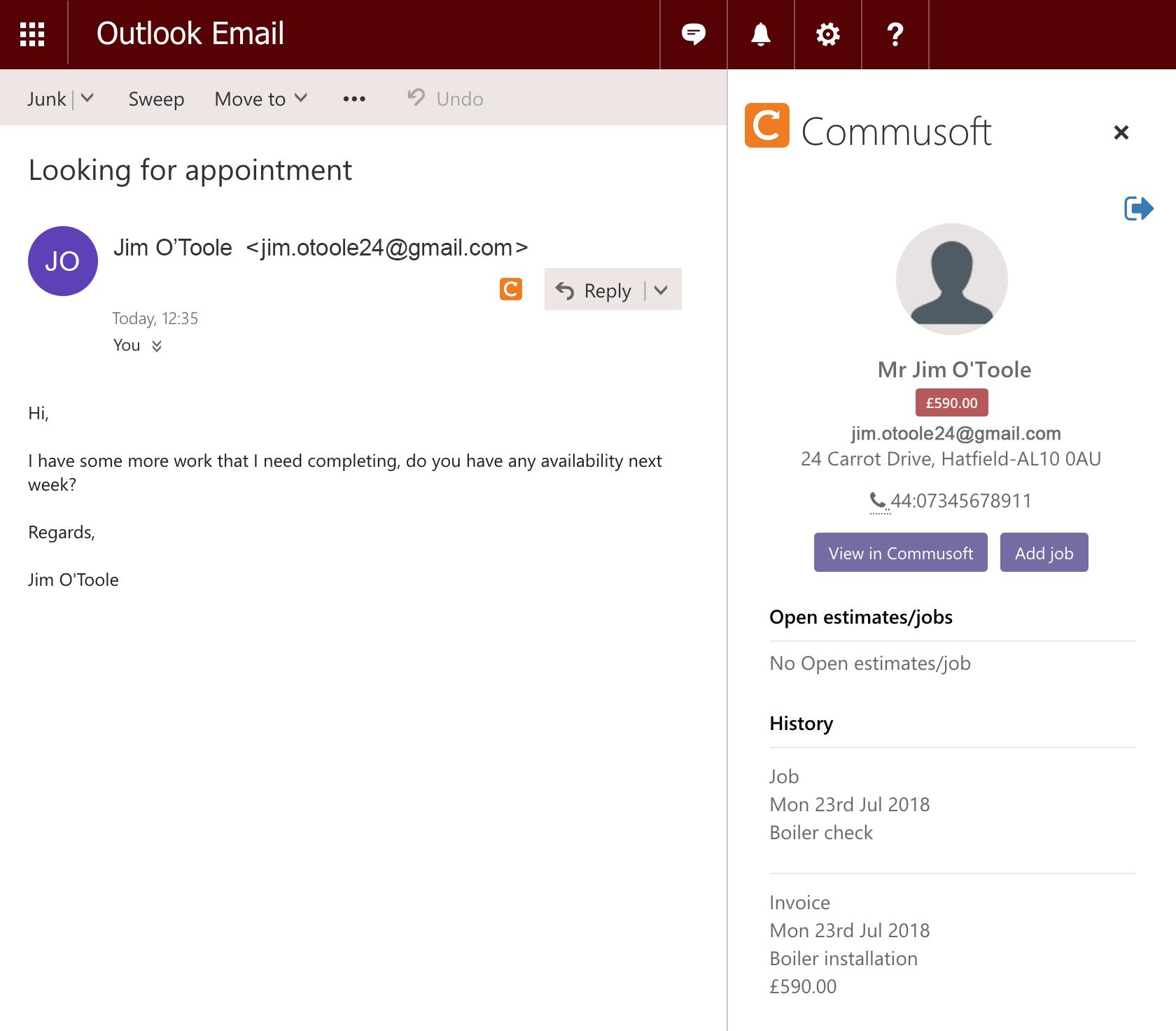 Outlook customer debt