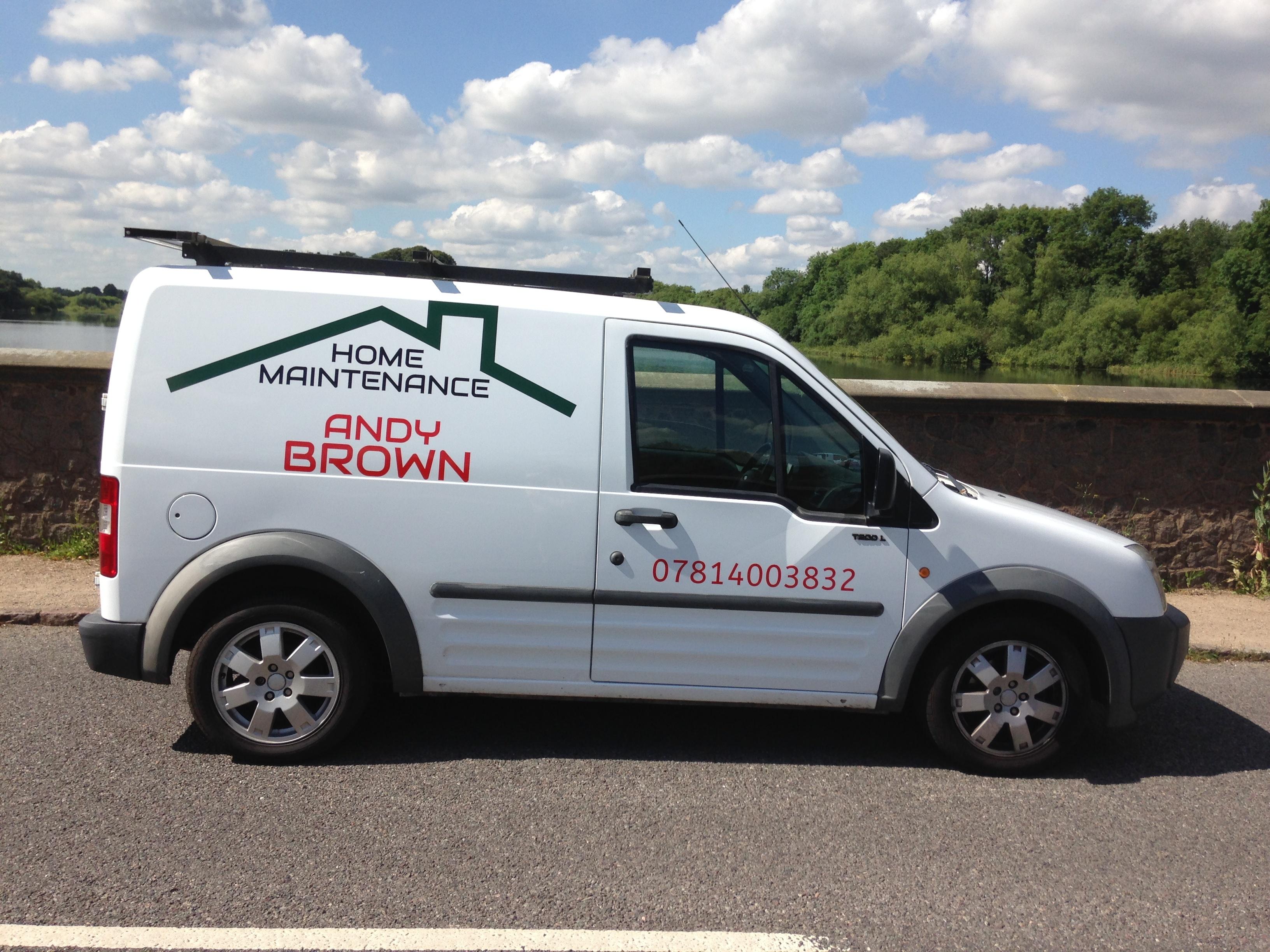 Van Signs Online Andy Brown Home Maintenance Van