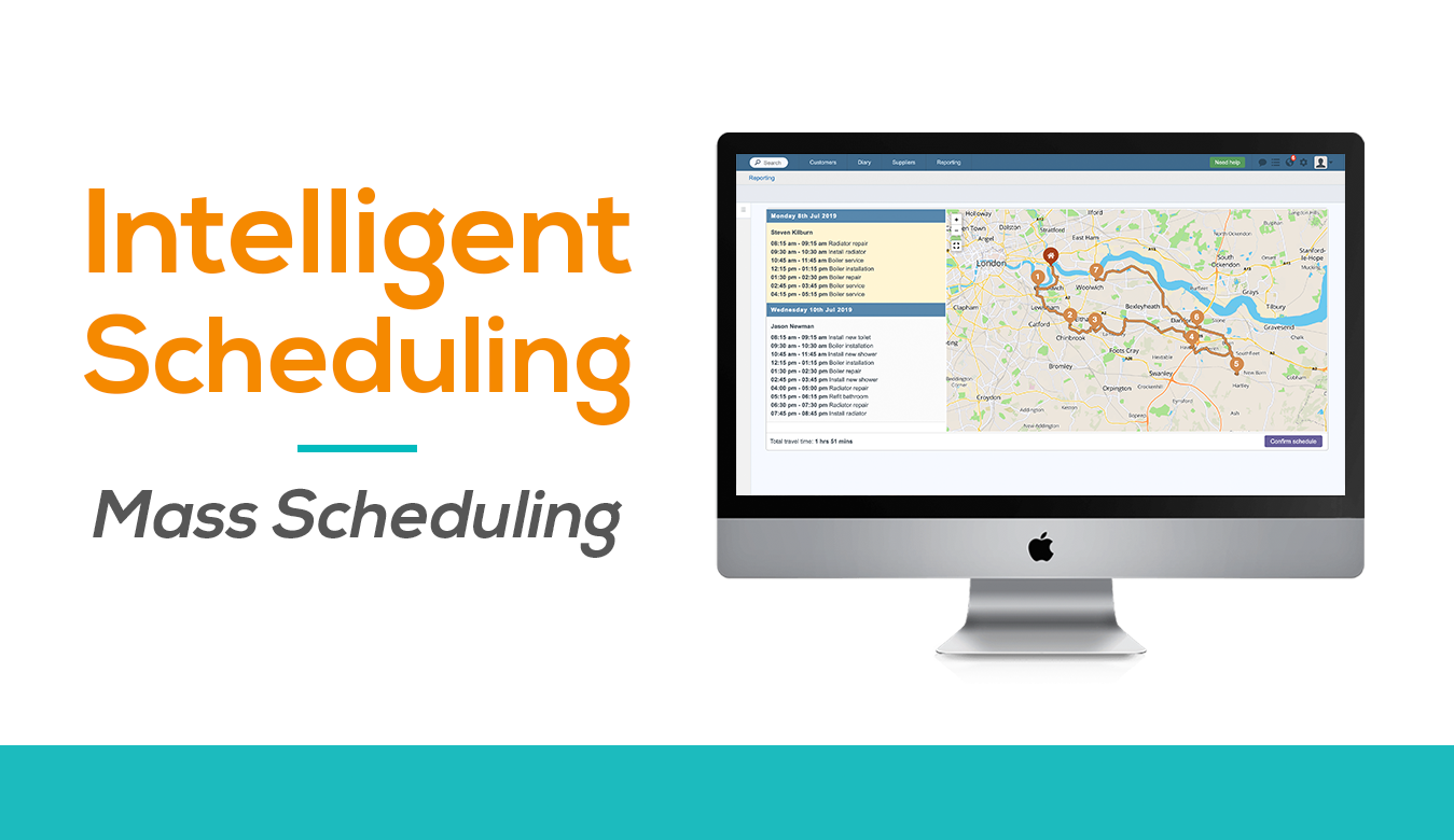 Mass schedule hundreds of jobs with intelligent scheduling software