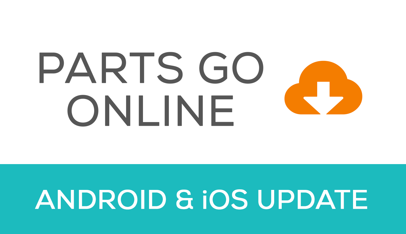 Android and iOS app update - parts go online