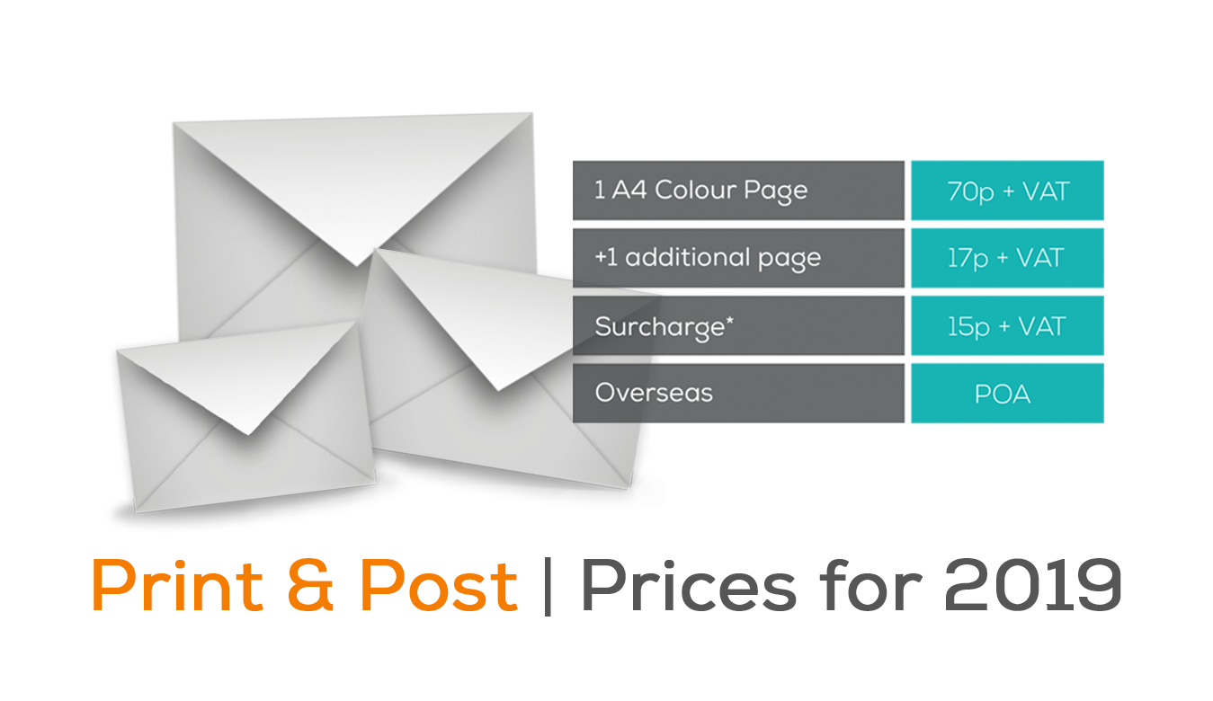 print and post prices